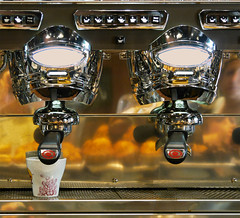 Coffee machine (chrisk8800) Tags: coffeemachine buttons cup reflections