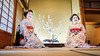 Inside the Umeno Okiya, with Umehina and Umechie (balbo42) Tags: umehina 2017 maiko geiko kyoto umechie xt2 kamishichiken hanamachi japan fujifilm kyotoinsider