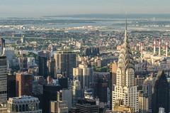 Chrysler Building/Empire State Building (theilheimer) Tags: newyork empirestatebuilding observationdeck chryslerbuilding manhattan usa state