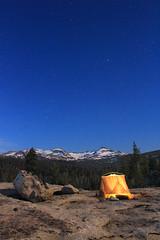 2017_06_06_0585-PS (DA Edwards) Tags: sierra nevada mountains tent night stars northern california desolation wilderness tentscape crystal range pyramid peak granite rock moonlight da edwards photography spring 2017 eldorado national forest