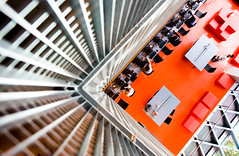 I Can Gather All the News I Need on the Weather Report (Thomas Hawk) Tags: seattle seattlecentrallibrary seattlepubliclibrary washington architecture library fav10 fav25 fav50 fav100