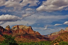 HAPPY FATHERS DAY (Susan Roehl) Tags: nationalparkstour2017 zionnationalpark springdale utah usa mountainview openrange zionoutbacksafaris southmesa northcreek kolobterrace westtemple outdoors sueroehl panasonic lumixdmcgh4 12x35mmlens handheld landscape uniquegeology rock cliff sky clouds panoramas fathersday rogerwatson 92yearsold