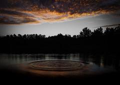 Splash (edwinemmerick) Tags: sunset water reflection splash river australia shillouette canon