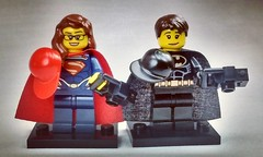 After some gender realignment and hats, Batman & Superman can finally see the world incognito - Brick Yourself figures of the week. #brickyourself #brickmandan #makeyourselfinlego #lego #legosuperman #legobatman
