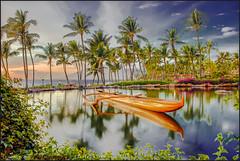 Hawaiian Evenings (LOURENḉO Photography) Tags: hawaii maui oahu sunset ocean surf canoe water coastal resort hotel grandwailea beautiful trees coconut palms
