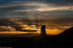 To See the Light (Bill Bowman) Tags: sunrise mazedistrict landofstandingrocks theplug chimneyrock mantilasalmountains canyonlandsnationalpark publiclandforpublicuse