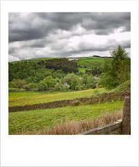 Newhey (Missy Jussy) Tags: newhey bethanylane rochdale landscape lancashire land fields house trees hills drystonewalls fence england northwest sky clouds canon canon5dmarkll 50mm ef50mmf18ll canon50mm
