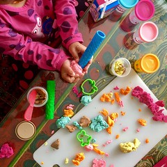 Playing and Learning Is Often a Messy Affair (ToGa Wanderings) Tags: solving problem inquiry creation messy manipulation time free young fun creative creativity handson hands doh play learning playing girl toddler child