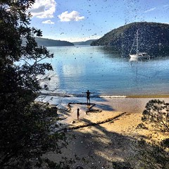 Taken from behind the waterfall. Refuge Bay, Pittwater.