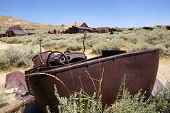 So Close, Yet So Far (nedlugr) Tags: california ca usa bodie ghosttown ruraldecay rust ruralwest rural ruins car smokyskies historic homes