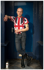 Oi Skinhead (eyecandyclick) Tags: skinhead portrait stella drmartens boots braces jeans denim blue red outside shadow unionjack subculture music fashion