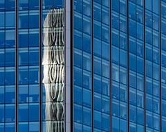 out of the blue (Cosimo Matteini) Tags: london cosimomatteini ep5 olympus pen mft m43 mzuiko60mmf28 architecture blue building fragmented reflection threadneedlestreet tower42 outoftheblue