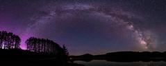 Milky Way + Aurora Borealis Panorama (Dino Sokocevic) Tags: aurora sky nasa astrophotography astro mefoto tripod nikon tokina ultrawide longexposure vermont nature