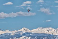 May 21, 2017 - Balloon takes flight over the Rockies. (Tony's Takes)