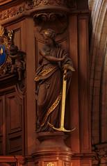Saint Omer, Nord-Pas-de-Calais, Cathédrale Notre-Dame, organ, virtue:  hope