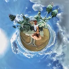 Big Mongolia,small World (Alexandr Tikki) Tags: mongolia chingizkhan art wow world travel tikki alexandrtikki ricoh 360 horses statue desert explore enjoy monument amazing awesome architecture angle best creative concept crazy