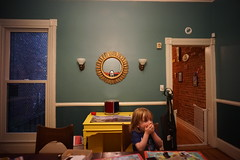 (patrickjoust) Tags: baltimore maryland sonya7 voigtlandercolorskopar21mmf4 digital full frame sensor manual focus lens patrick joust patrickjoust usa us united states north america estados unidos domestic home interior kid boy around house mirror scary mask sun dining room goofiness
