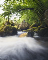 L'ASSOURDISSANTE (ThibaultPoriel) Tags: chaos waterfall cascade river long exposure longexposure water forest wood lost paradise scenic bretagne finistere france travel landscape daylight light scenery vert greencolors