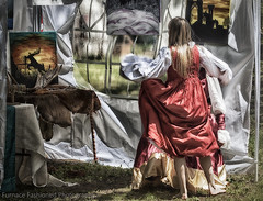 Photo artistry -  For the love of art (mcleod.robbie) Tags: woman red dress fun art artistic girl dance tent happy color hdr portrait