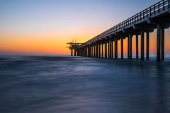 scribbs pier (Lichtbildidealisten.) Tags: san diego la jolla scribbs pier sandiego lajolla seascape sunset longexposure new orange blue