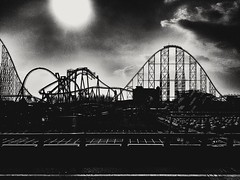 """Heaven on earth"" (surely everyone is happy in that little world)  #heavenonearth #silhouette #recreation #holyday #public #rollercoaster #blackandwhite #blackandwhitephoto #bnw (victor_erdi) Tags: blackandwhite public recreation silhouette heavenonearth rollercoaster blackandwhitephoto holyday bnw"