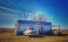use mobil.... (HTT) (BillsExplorations) Tags: truck truckthursday rust old vintage car mobil gas centennialfarm illinois oldtruck display oldcar chevrolet chevrolet3500 chevy gasstation fillingstation wow