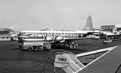 Chicago Midway Airport - Northwest Airlines - Boeing 377 (Stratocruiser) (twa1049g) Tags: chicago midway airport northwest airlines boeing 377 stratocruiser 1959 n74603