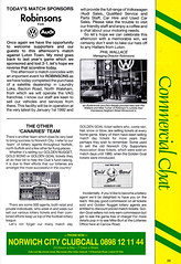Norwich City vs Luton Town - 1991 - Page 29 (The Sky Strikers) Tags: norwich city luton town barclays league division one carrow road official matchday programme pound twenty