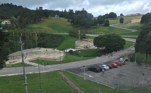 Monumento a Simón Bolívar, puente de Boyacá, Colombia.