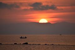 Sunrise (saromon1989) Tags: nature pure original landscape sunrise orange boat sea greece paralini kalimera morning natural