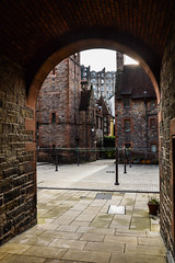 Through the gate (ola_er) Tags: edinburgh scotland uk gate courtyard yard backyard dean village old architecture secret spots nikon