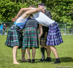 Two's Company Four's a Crowd (FotoFling Scotland) Tags: argyll event scotland scottishwrestlingbond athlete backholdwrestling callum helensburgh helensburghhighlandgames kilt kilted kilts meninkilts scottish wrestlers fotoflingscotland