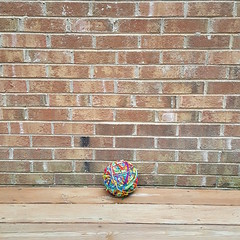 My medium length scrap yarn yarn ball on solstice 2017 (crochetbug13) Tags: crochet crocheted crocheting crochetcat amigurumicat scrapcat scrapyarncrochet scrapyarn crochettoy crochetanimal