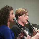 Students performing on clarinet.