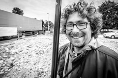 "#131 ""What the hell are you doing on this planet?"" (Hendrik Lohmann) Tags: street streetphotography streetportrait project people urban series portrait whatthehell nikon df wideangle faces blackandwhite hendriklohmann"