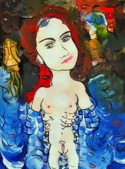 DÉTERMINÉE COMME JAMAIS (Claude Bolduc) Tags: artsingulier lowbrow teen anorexy outsiderart visionaryart intuitiveart artbrut horsnorme artcollectors selftaughartist autodidacte