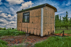 Shelter (enneafive) Tags: hdr caravan nature old fujifilm xt2 sky blue green abandoned