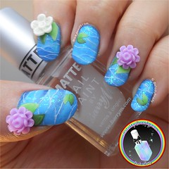 3D Water Lilies (ithinitybeauty) Tags: water nails nailart nails2inspire artist artwork design 3d nail decoration embellishment freehand acrylic floral flowers creative notd nailsoftheday manicure style fashion crazy love polish lacquer varnish matte illustration creativity girls women photograpghy