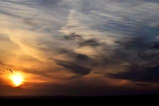 Interesting sky at sundown