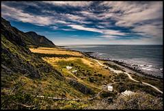The Palliser Series #4 Viewpoint (niggê) Tags: newzealand wairarapacoast northisland southernocean cookstrait tasmansea southpacificocean sonyilce7rm2 sony sonya7rii sonylens sony247028gm fe2470mmf28gm fe2470gm fishing surf beach lagoon wild shingle flotsam jetsam binkiebickerton cloudsstormssunsetssunrises mangatoetoe howlingwind squall lighthouse fresnel seascape