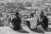 Tot xerrant - Chatting (Miquel Lleixà Mora [NotPRO]) Tags: street mirador barcelona people gent blanc negre