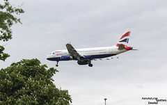 A320 G-EUYH aterrizando en LHR (Dawlad Ast) Tags: aeropuerto internacional international airport lhr londres london mayo may 2017 17 myrtles ave avion plane airplane aircraft airbus 320232 geuyh british airways sn 4265 a320 320
