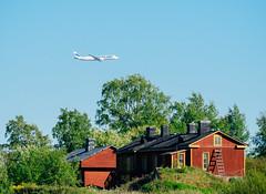 Finnair Airbus A350 (miemo) Tags: a350 airbus kaivopuistonlentonäytös2017 airshow airplane em5mkii europe finland finnair harakka helsinki house kaivopuisto olympus omd panasonic100300mm passengerplane summer telephoto trees helsingfors uusimaa fi