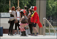 Costumes by the Harbourside (Canis Major) Tags: costumes harbourside parrot people party fancydress