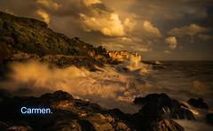 FELIZ MARTES DE NUBES AMIG@S. (CarmenCordero1949) Tags: rocas nubes agua carmen
