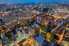 Overview! (Leslie Hui) Tags: singapore cityscape city chinatown bluehour
