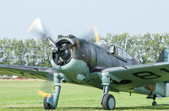 Curtiss P-36 Hawk Taxiing (Jez B) Tags: goodwood revival 2015 grrc road racing club classic historic circuit track course lord march house military second world war 2 ii ww2 wwii fighter aircraft airplane aeroplane plane propeller curtiss hawk 75 p36