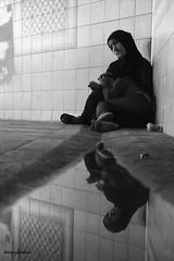 Syrian children. (K.BERKİN) Tags: syrian children street streetphotograpy streetphoto sony6300 sonyalpha city refugee eminonu people istanbul reflection blackwhite