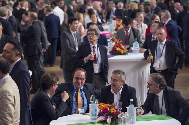 Attendees enjoying the reception
