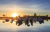 阿波羅噴泉 (sic Chiu) Tags: 仁德區 台南市 台灣 taiwan tainan 奇美博物館 阿波羅噴泉 日出 sunrise 星芒 水池 6d ef1635mm nd64 減光鏡 黑卡